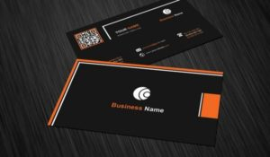 Black and Orange Examples of Professional Business Card Designs
