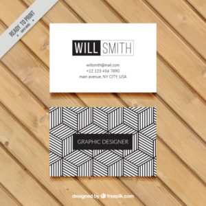 Geometric Black and White Examples of Professional Business Card Designs