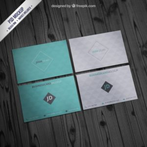 Geometric Pattern Examples of Professional Business Card DesignsCard