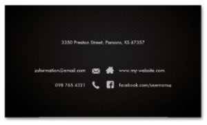 Modern Elegant Simple Plain Back Sleek Examples of Professional Business Card Designs BACK