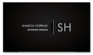 Modern Elegant Simple Plain Back Sleek Examples of Professional Business Card Designs