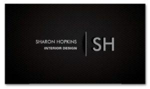 Modern Elegant Simple Plain Back Sleek Examples of Professional Business Card Designs