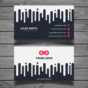 Modern Style Examples of Professional Business Card Designs