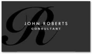 Monograph Elegant Modern Black Examples of Professional Business Card Designs