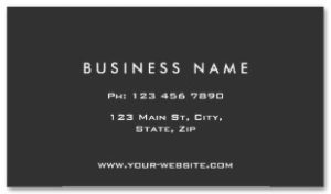 Monograph Professional Elegant Modern Black Examples of Professional Business Card Designs BACK