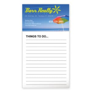 bic business card magnet with 50 sheet notepad inexpensive promotional product ideas