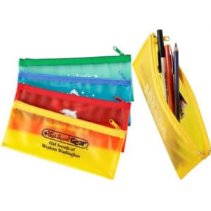 school mate zippin pen pencil case inexpensive promotional product ideas