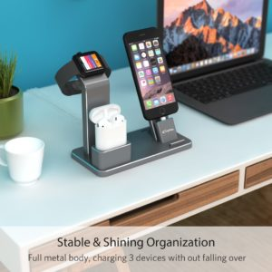 YoFeW Aluminum Apple iWatch Stand 4 in 1 Charging Stand Accessory