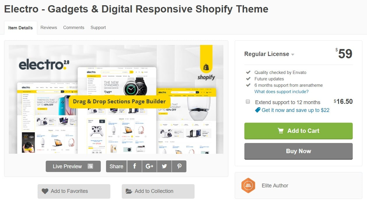 Electro Best Premium Shopify Themes