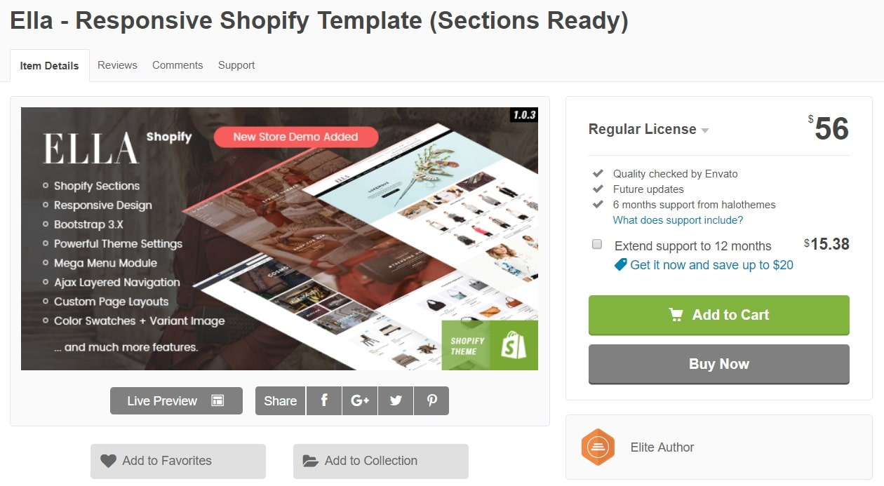 Ella Best Premium Shopify Themes