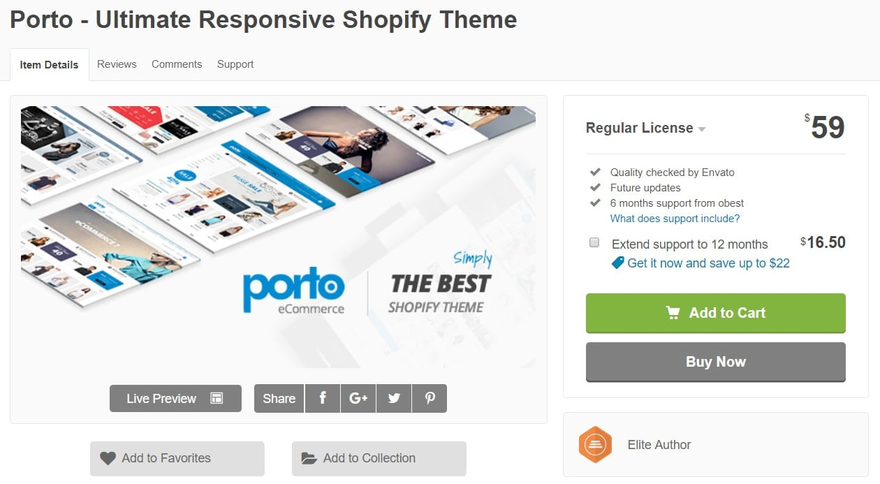 Porto Best Premium Shopify Themes