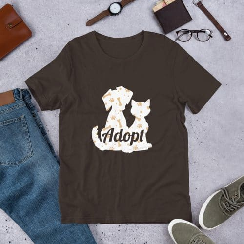 Adopt Dog and Cat Silhouette T-Shirt